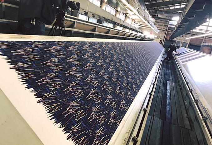 足利市の着物の柄を市内工場にてプリント